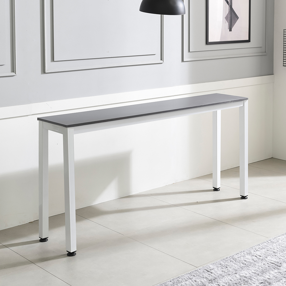 홈인홈 the 튼튼한 홈 바 테이블 1000 x 300 mm, 상판 (그레이) + 다리 (화이트)