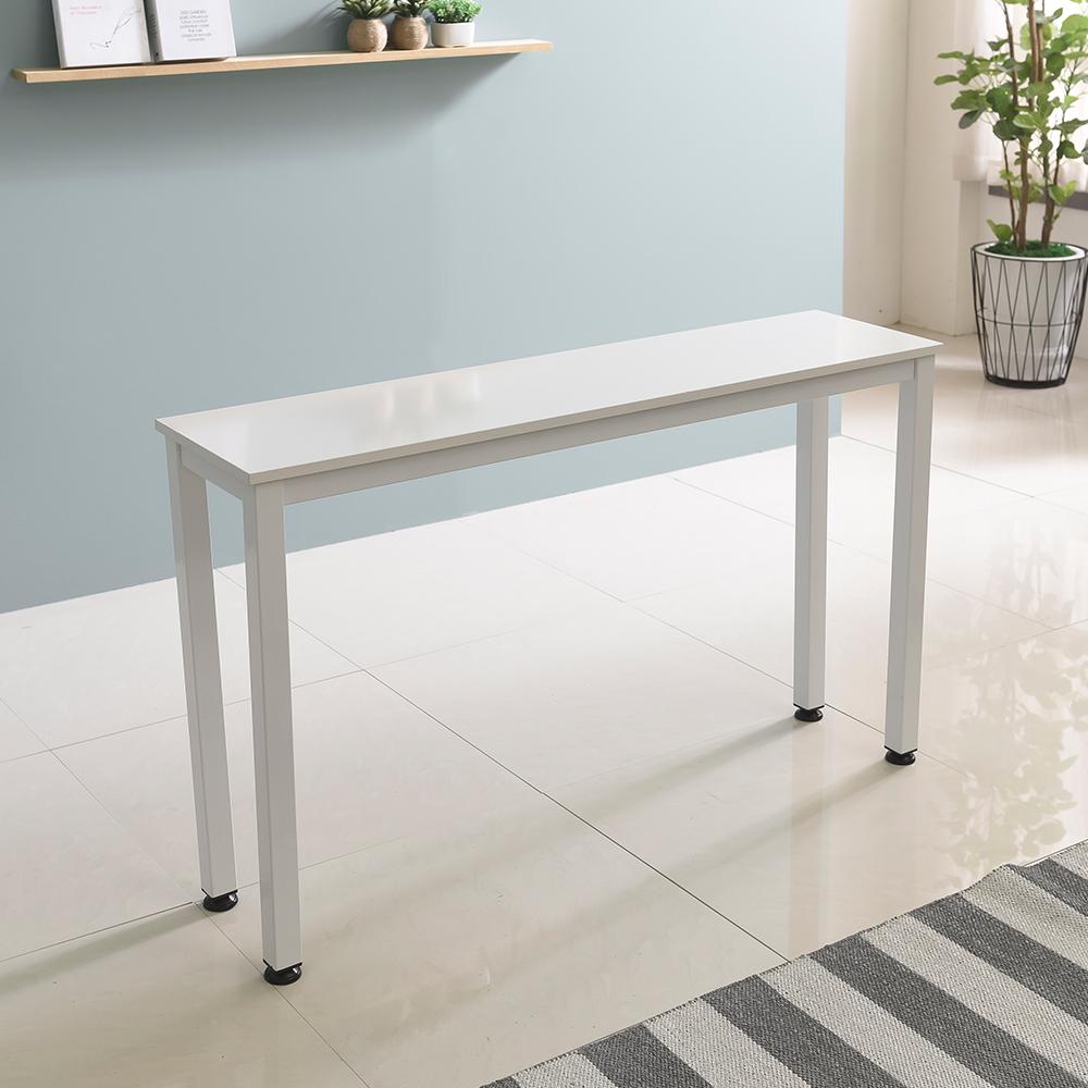 홈인홈 the 튼튼한 홈 바 테이블 1000 x 300 mm, 상판 (화이트) + 다리 (화이트)