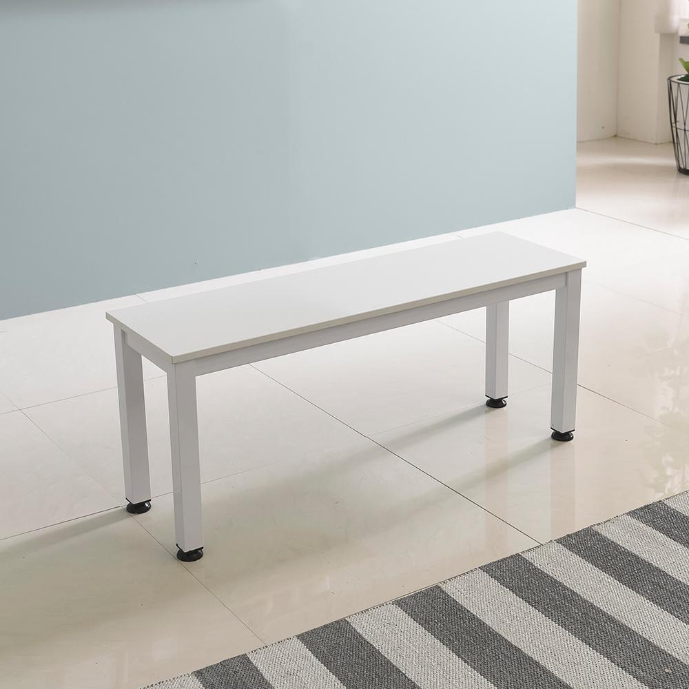 홈인홈 the 튼튼한 벤치 테이블 1000 x 300 mm, 상판 (화이트) + 다리 (화이트)