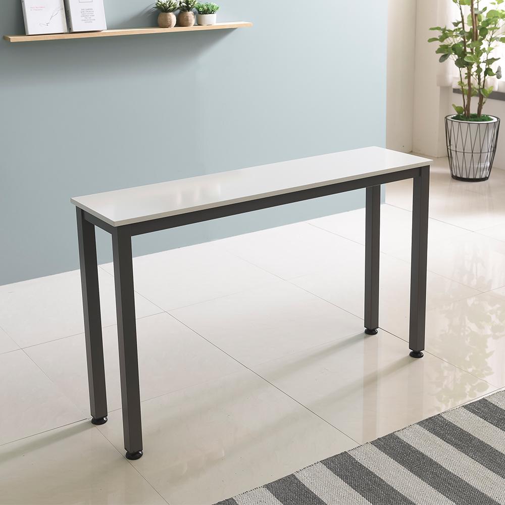홈인홈 the 튼튼한 홈 바 테이블 1000 x 300 mm, 상판 (화이트) + 다리 (그레이)
