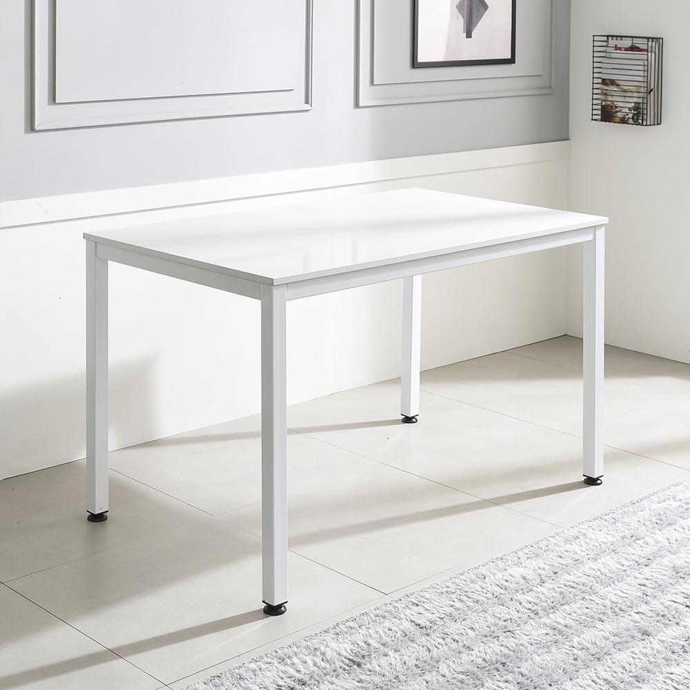 홈인홈 the 튼튼한 책상 겸 테이블 1200 x 700 mm, 상판 (화이트) + 다리 (화이트)