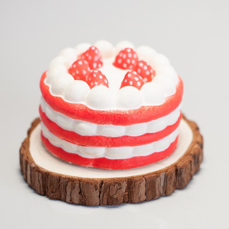 엠디자인 딸기 생크림 케익 모형, 혼합 색상