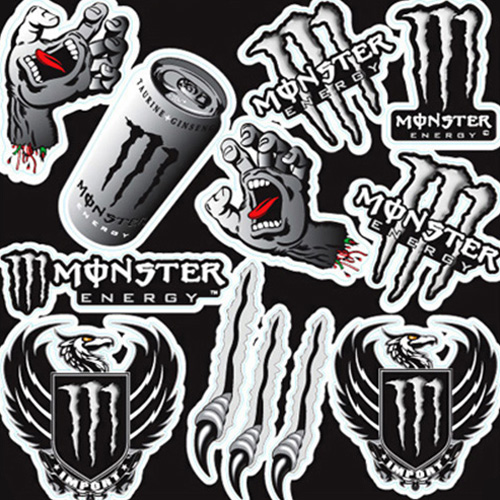 모터스티커 오토바이 튜닝 스티커 세트, 몬스터24, 1세트