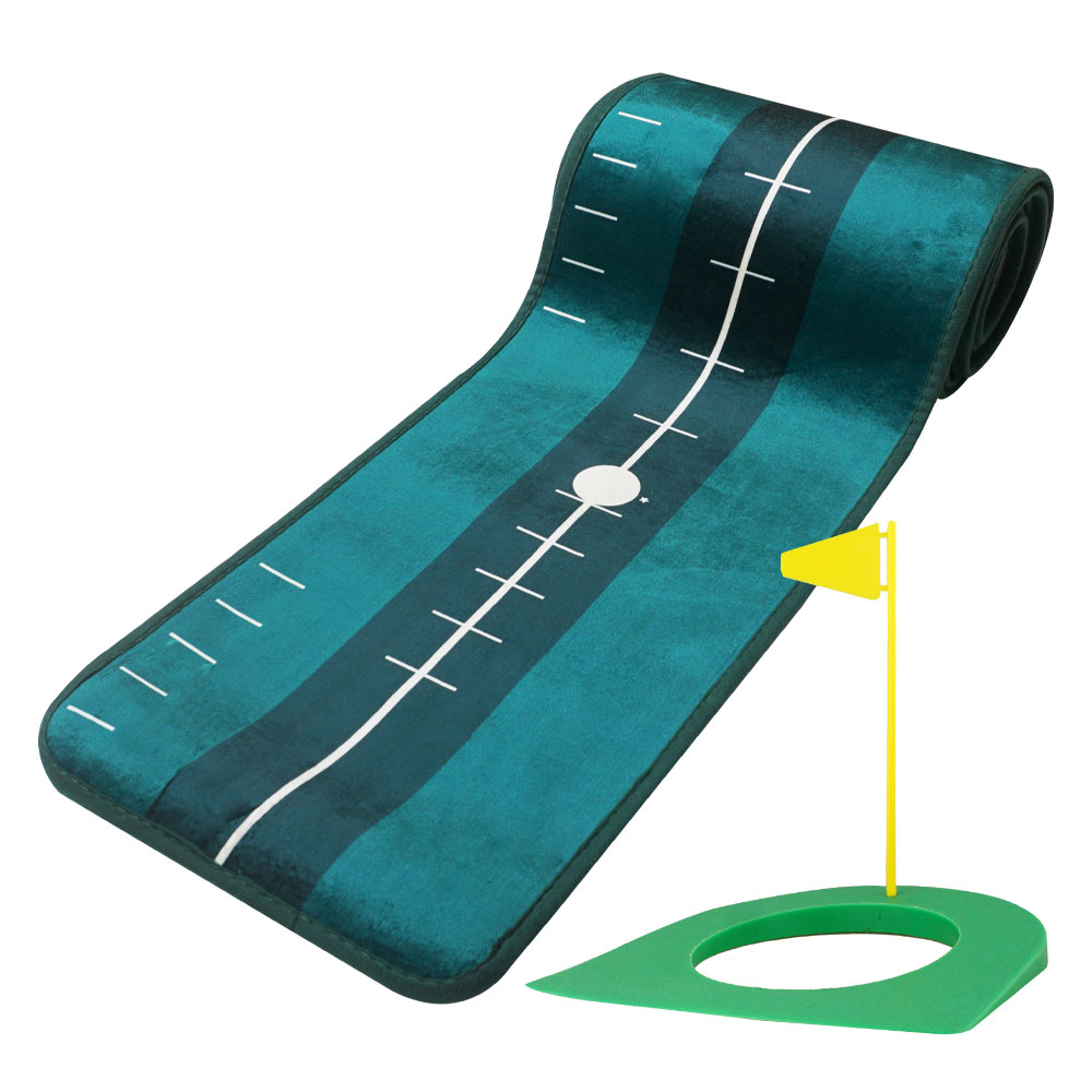 런처 골프 트랙 퍼팅매트 + 홀컵, 그린