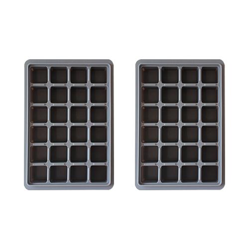 키친팩토리 파스텔 실리콘 얼음틀 24구 2p, 모던그레이 (POP 97918692)