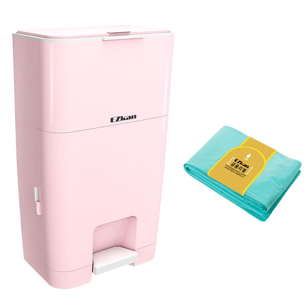이지캔 기저귀 쓰레기통 EZ-270, 핑크, 27L