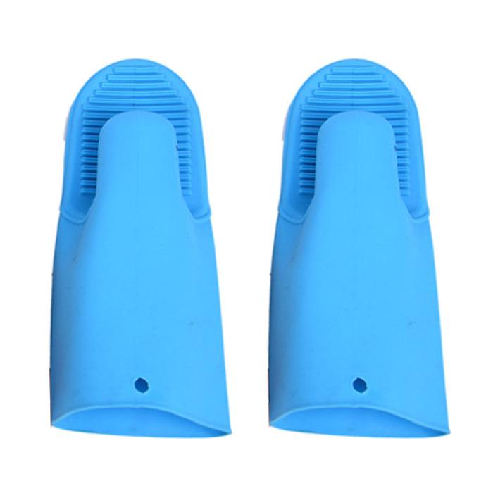 AnTs 주방용품 실리콘 장갑, 블루, 2개입
