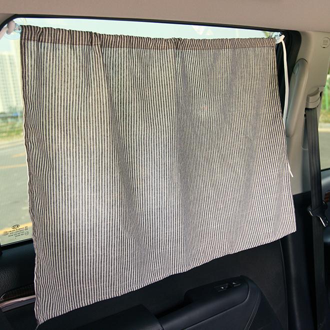 우리앤데코 데코라인 차량용 햇빛가리개 큐방, 그레이 스트라이프, 1개