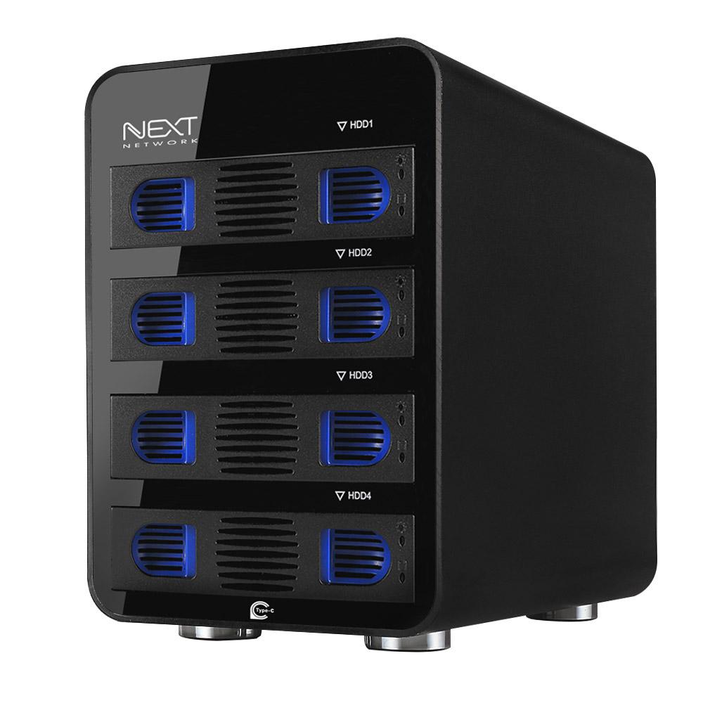 넥스트 4베이 USB3.1 타입C 10Gbps Gen2 데이터 스토리지 NEXT-704TC