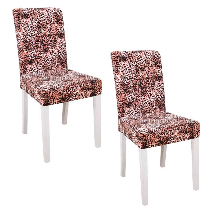 스토어33 패턴 디자인 키친 식탁의자커버 2p, I