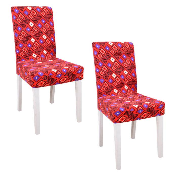 스토어33 패턴 디자인 키친 식탁의자커버 2p, D