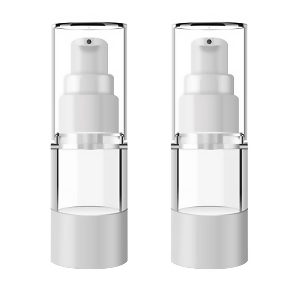DM 뷰티 휴대용 펌프 로션 공병 플랫 진공 15ml, 혼합 색상, 2개입