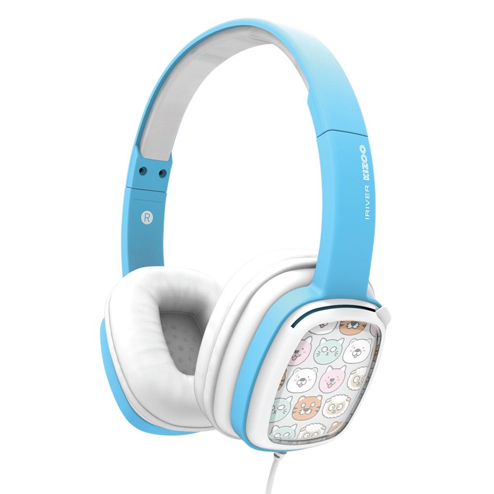 아이리버 KIZOO 어린이 헤드폰, 블루, IKH-100