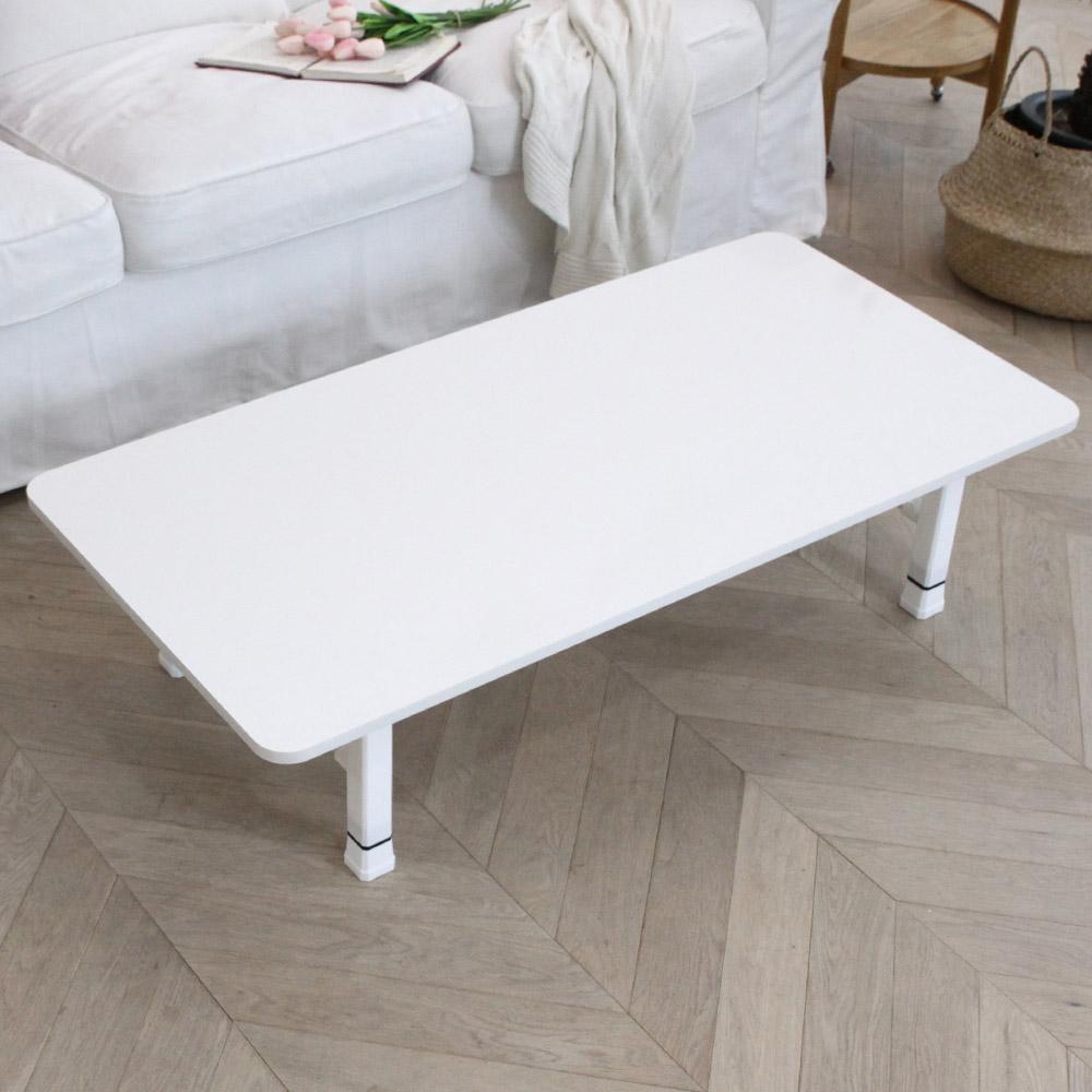 벨라홈 LPM 샤르망 라운드 접이식테이블 1200 x 600 mm, 화이트