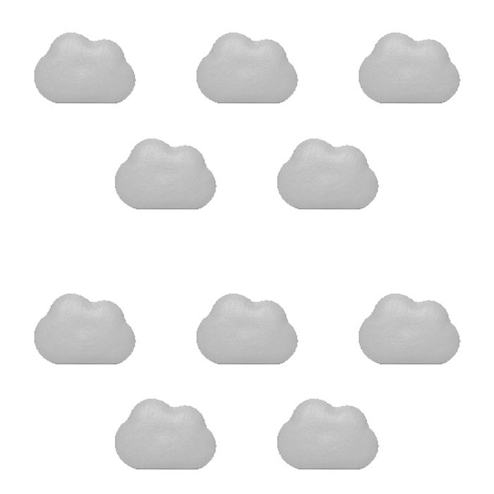 앤티스 주방용품 크리에이티브 냉장고 자석 10p, 구름 그레이