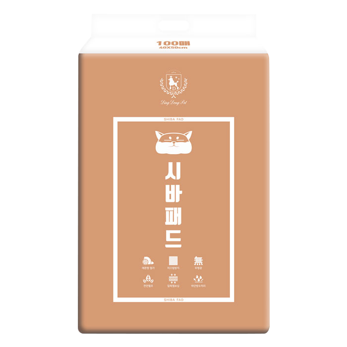 딩동펫 시바 애견 배변패드 고급형 레몬향 100매, 1팩