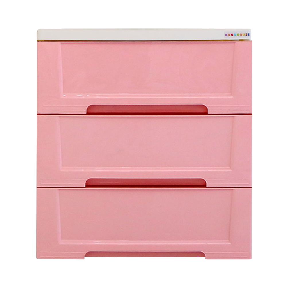 보노하우스 블랑 모던 서랍장 3단, 핑크, 1개