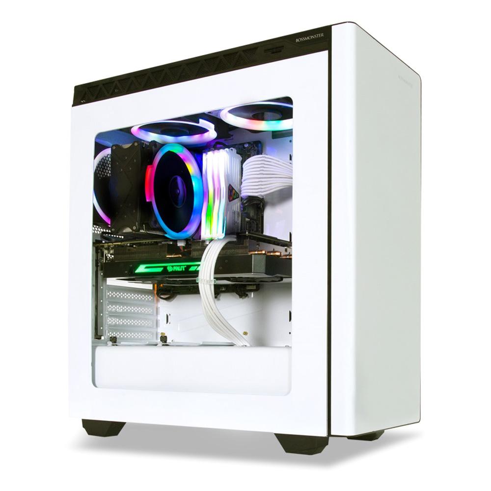 한성컴퓨터 게이밍 데스크탑 BossMonster Frozen DX4 8436 RGB i5 8400 WIN미포함 8GB SSD 120GB GTX