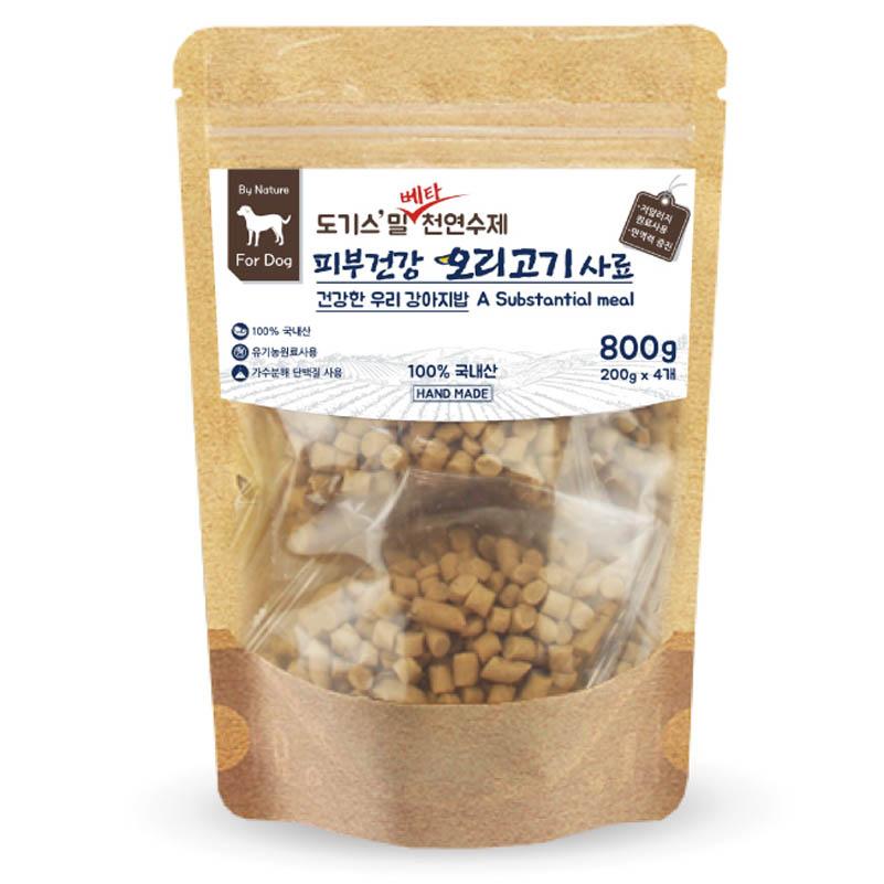 도기스밀 베타 수제 강아지 습식사료 피부건강 오리고기, 200g, 4개입