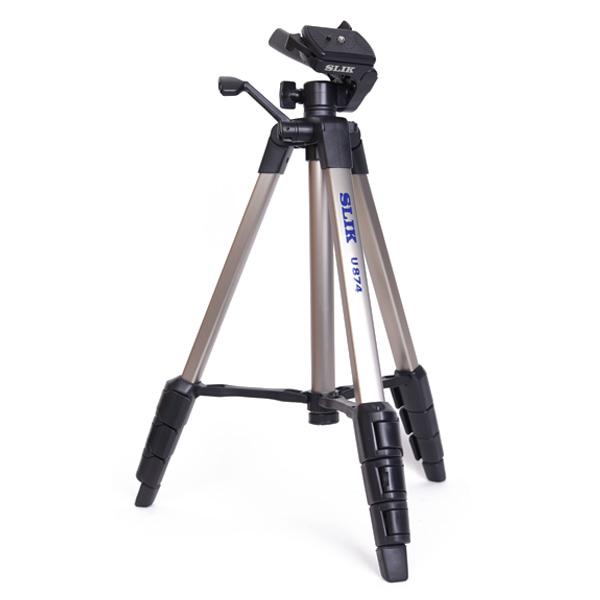 슬릭 초경량 카메라 비디오 3WAY 4단 삼각대, U874