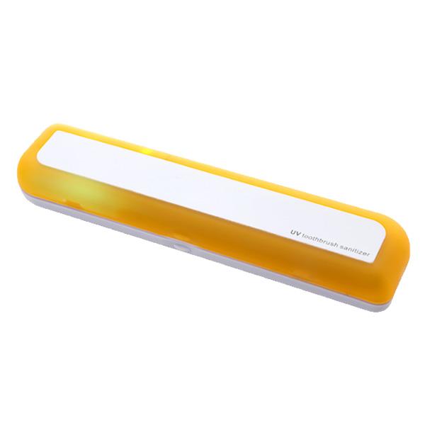 유스마일 휴대용 UV 자외선 사각 칫솔살균기 NO.0039, 옐로우