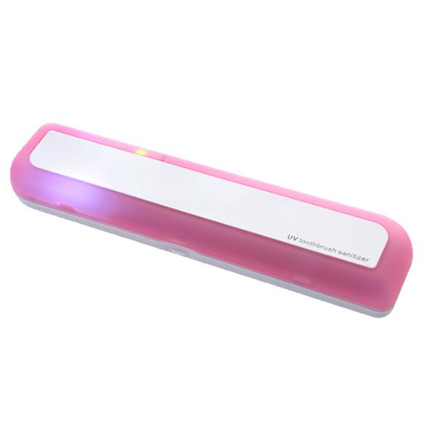 유스마일 휴대용 UV 자외선 사각 칫솔살균기 NO.0039, 핑크