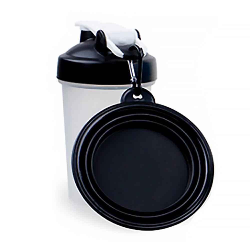 알럽펫 반려동물 휴대용 물통세트 블랙 1세트