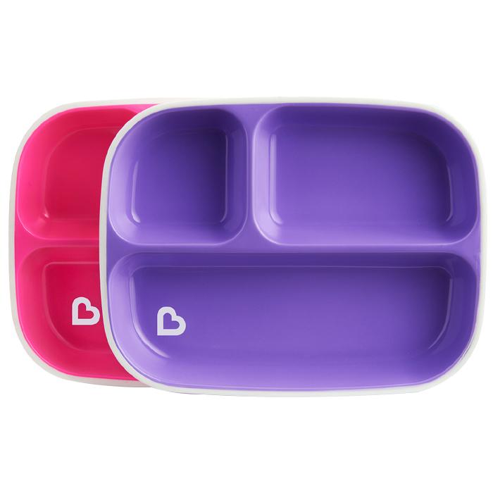 먼치킨 논슬립 이유식판 2p 세트 퍼플 핑크 단품