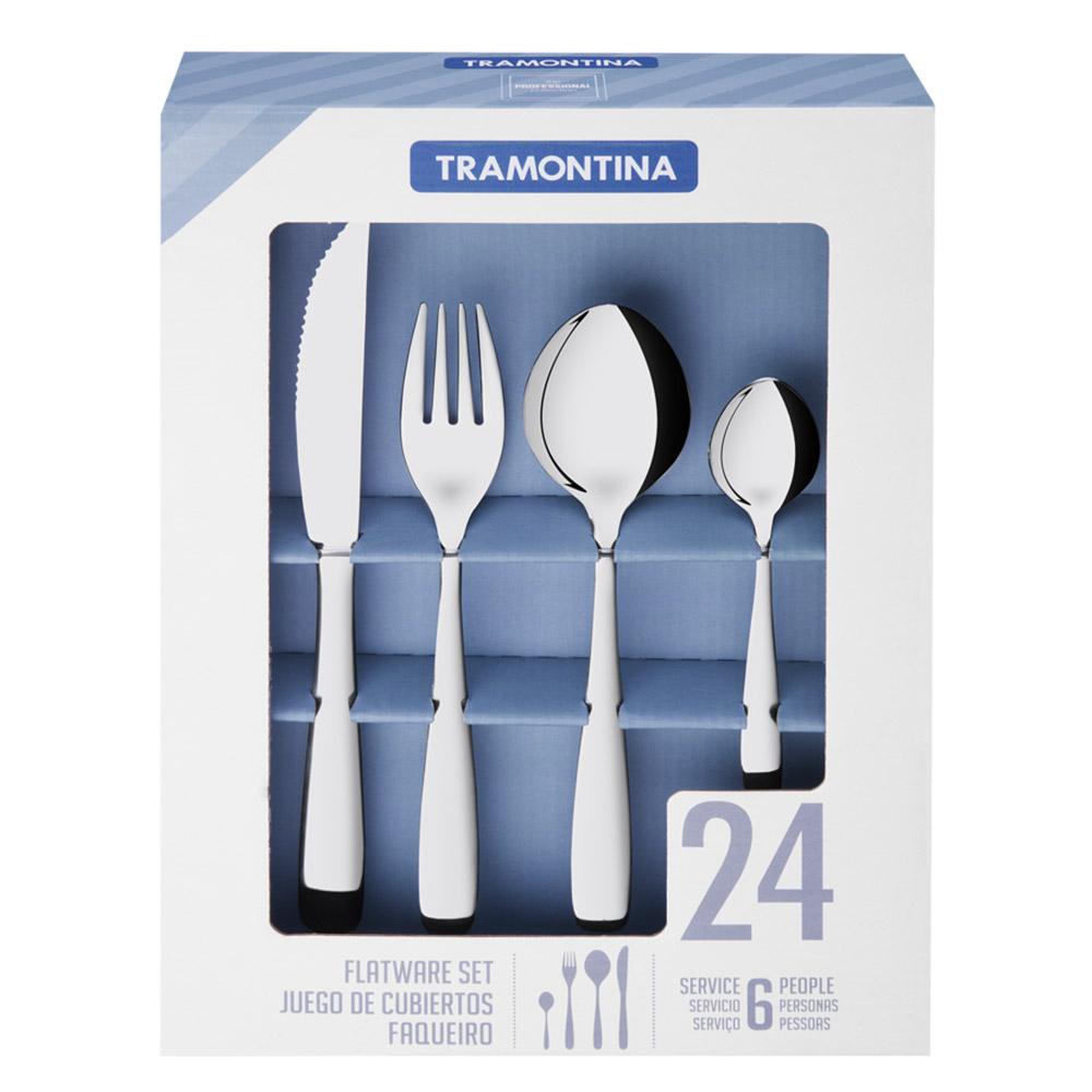 트라몬티나 아마조나스 나이프 포크 숟가락 세트 66960004, 단일 색상, 나이프 6p + 포크 6p + 숟가락 6p + 티스푼 6p