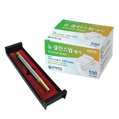 한솔부항기 스테인레스 사혈기 + 뉴 클린스왑 알콜솜 100p, 1세트