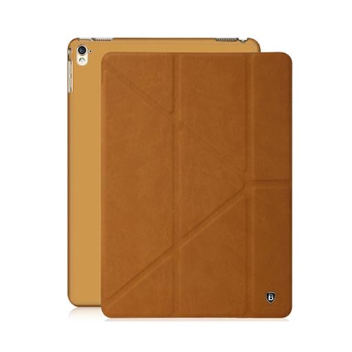 베이스어스 털스레더 Y형 태블릿PC 스마트커버 케이스, 브라운