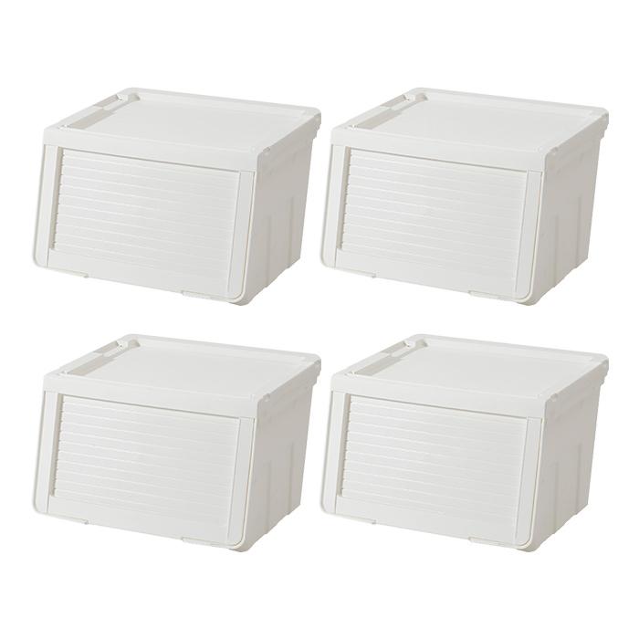 하우스레시피 피카 슬라이딩 박스 M, 화이트, 4개입