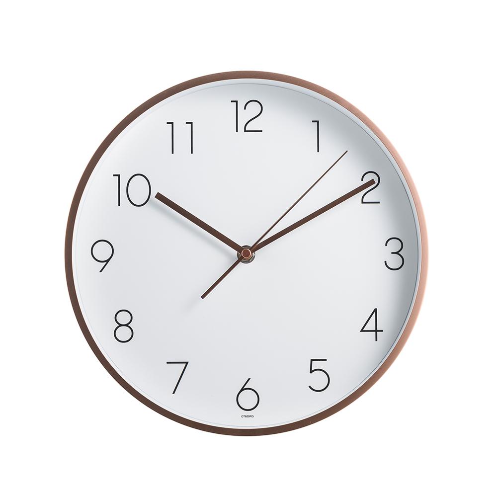 오리엔트 심플 로즈골드 프리미엄 쿠퍼 벽시계 OT850RG, 혼합 색상