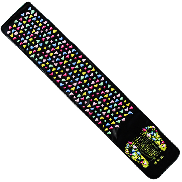 하늬통상 자갈 발지압판 발지압매트 대형, 1개, 혼합 색상