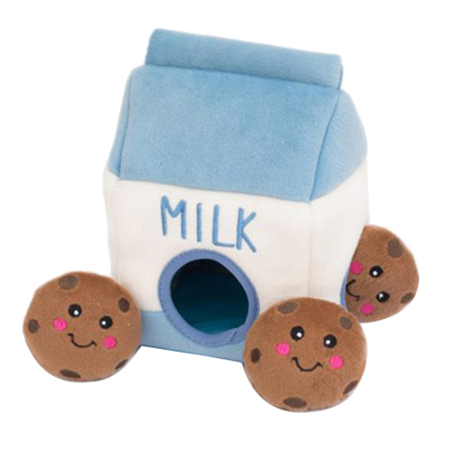 지피포우즈 우유팩 숨은 쿠키찾기 강아지 노즈워크 장난감, 혼합 색상, 1개