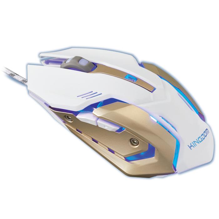 엑토 킹덤 게이밍 광 유선 마우스 GMSC-19, 화이트