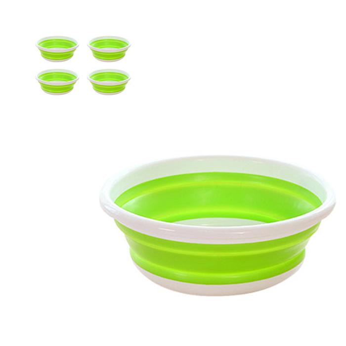 앤티스 주방용품 접이식 설거지통 XL, 그린, 5개입