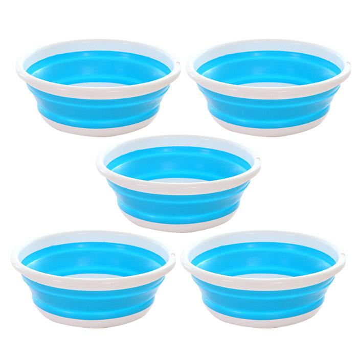 앤티스 주방용 접이식 설거지통 L, 블루, 5개입