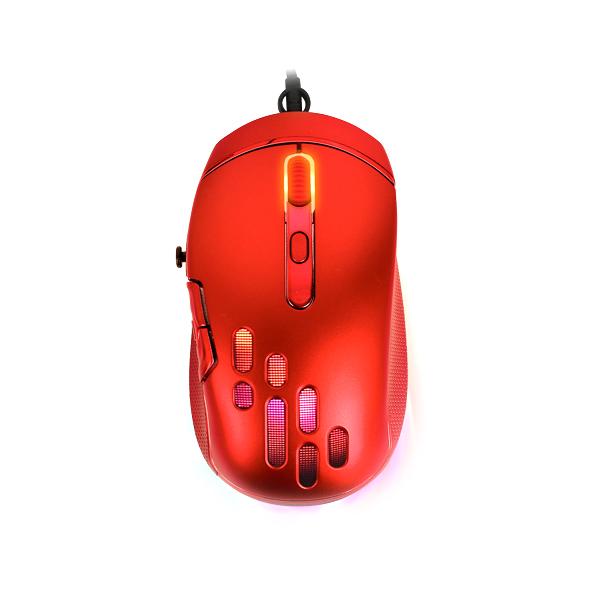 COX RGB 인체공학 마우스, CM70 GYRO, 레드