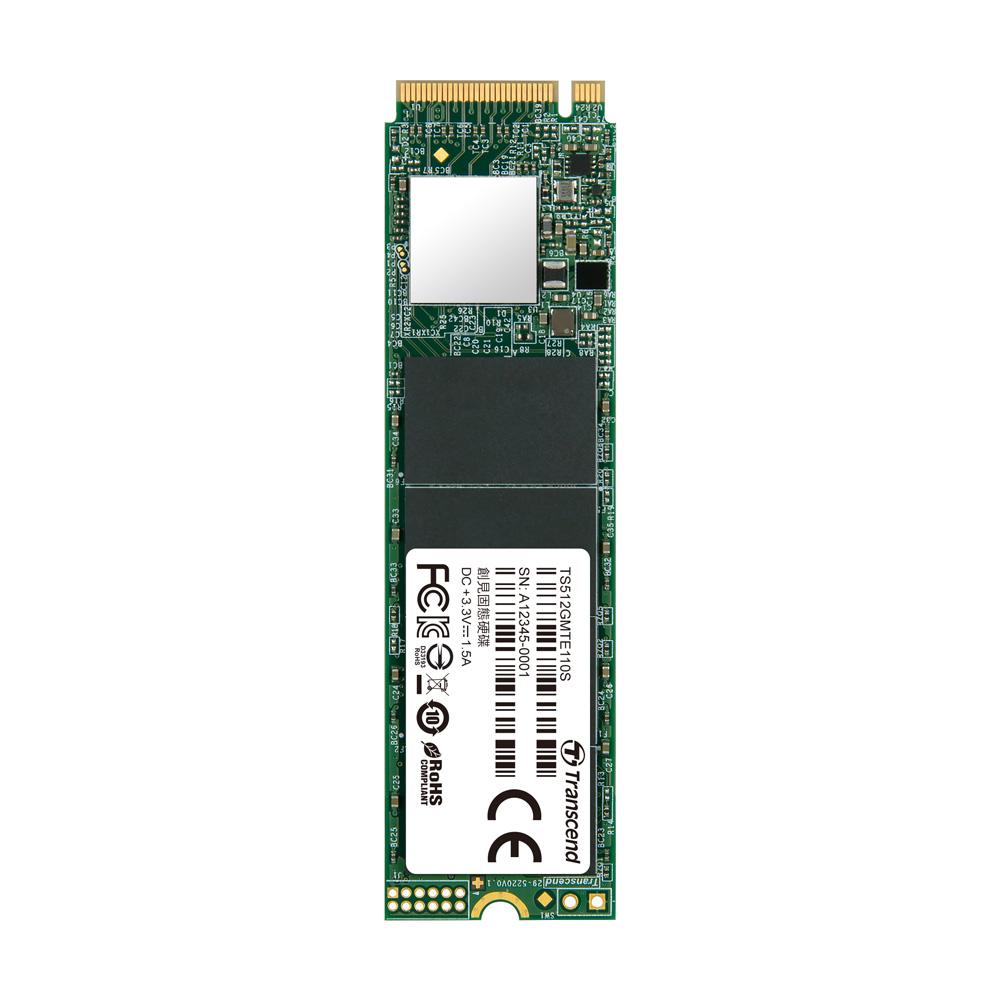 트랜센드 MTE110S M.2 2280 PCIe GEN3x4NVME 3D NAND SSD, TS512GMTE110S, 512GB
