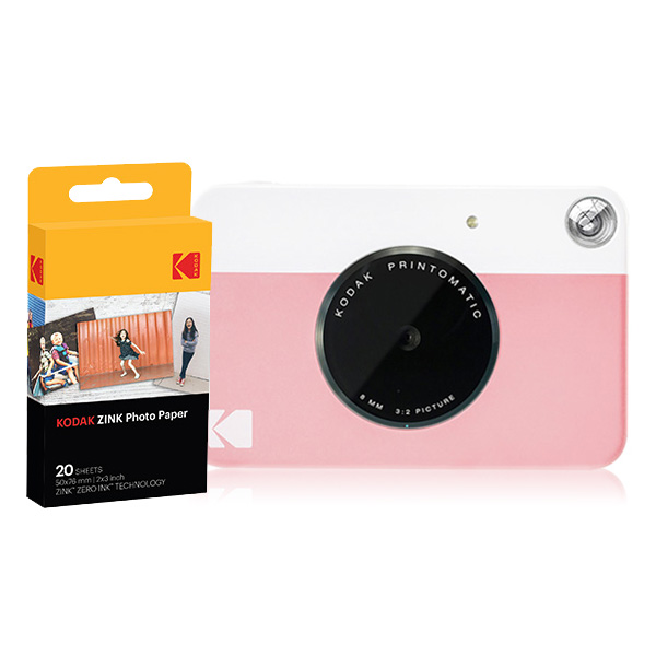 코닥 디지털 즉석 카메라 프린토메틱 + 인화지 20p 세트, 핑크, 1세트