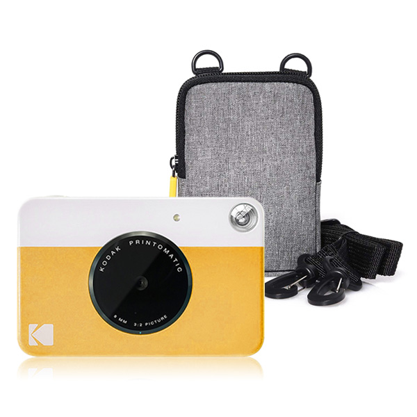 코닥 디지털 즉석 카메라 프린토메틱 + 소프트케이스 세트, 옐로우, 그레이, 1세트