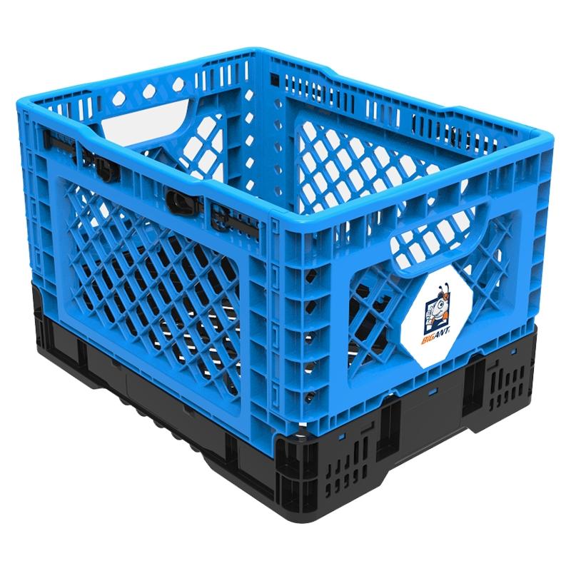 빅앤트 플라스틱 폴딩박스 소형 25L, 파랑, 1개