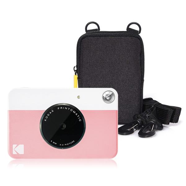 코닥 디지털 즉석 카메라 프린토메틱 + 소프트케이스 세트, 핑크, 블랙, 1세트