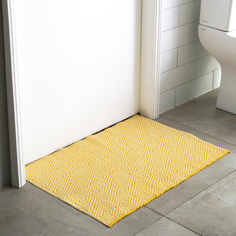 서피니아 콰르츠 핸드메이드 PVC 러그 매트, 옐로우