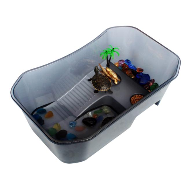 고운물 노모펫 개방식 거북이 어항 소형 블랙 NX-11, 1개