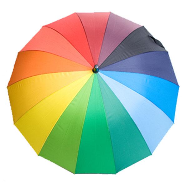 에이치엔씨 무지개 곡자 자동장우산