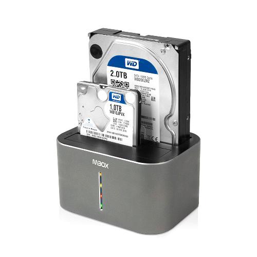 유니콘 MBOX USB 3.0 외장하드 듀얼 도킹스테이션 알루미늄케이스 DS-X30