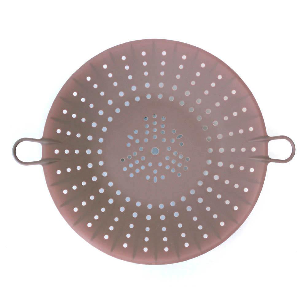 키친팩토리 파스텔 실리콘 찜기 밀크브라운, 24.5cm, 1개