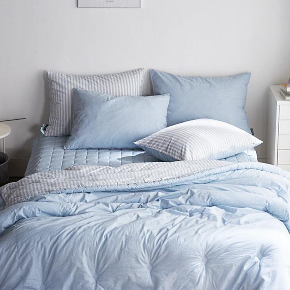 [간절기] 레오나 제이크 양면 고밀도 간절기 이불, 블루 - 랭킹2위 (67450원)